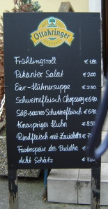 The German-Chinese Menu