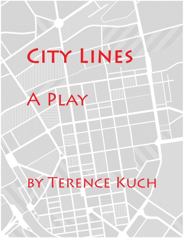 Graphic urban city plan drawing in lines